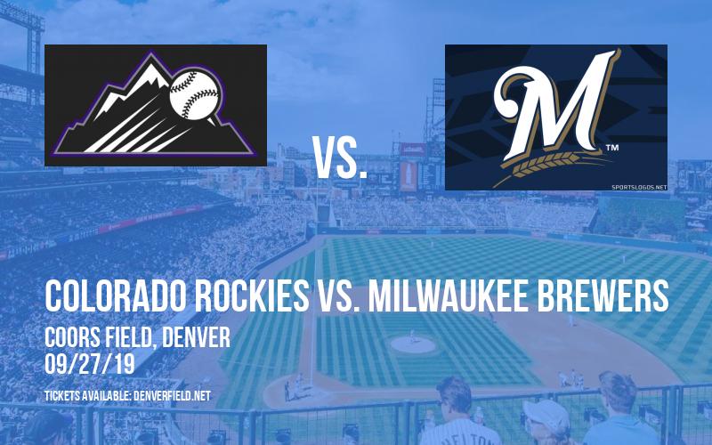 Colorado Rockies vs. Milwaukee Brewers at Coors Field