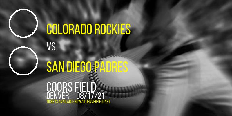 Colorado Rockies vs. San Diego Padres at Coors Field