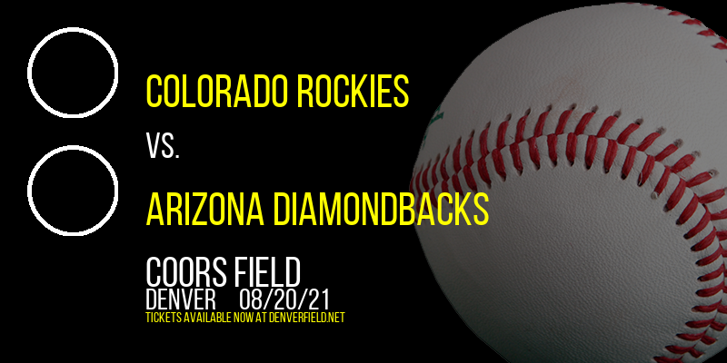 Colorado Rockies vs. Arizona Diamondbacks at Coors Field