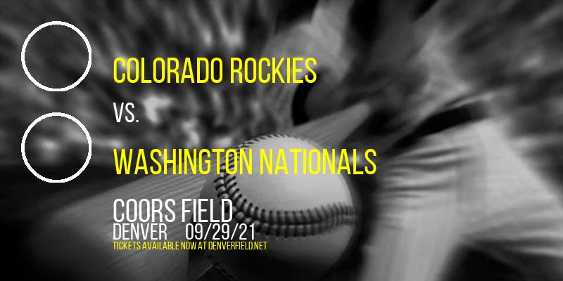 Colorado Rockies vs. Washington Nationals at Coors Field