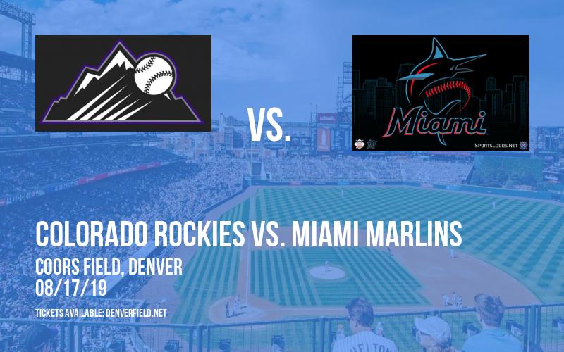 Colorado Rockies vs. Miami Marlins at Coors Field