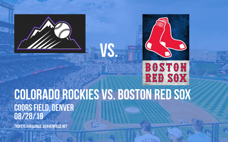 Colorado Rockies vs. Boston Red Sox at Coors Field