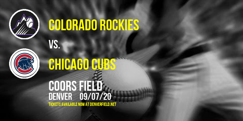 Colorado Rockies vs. Chicago Cubs at Coors Field