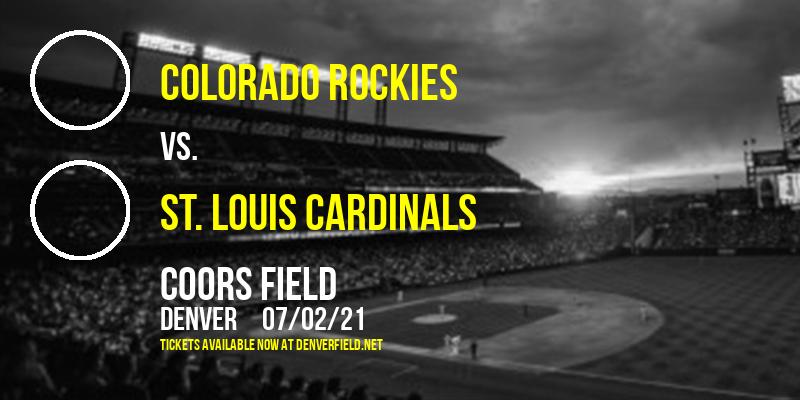 Colorado Rockies vs. St. Louis Cardinals at Coors Field