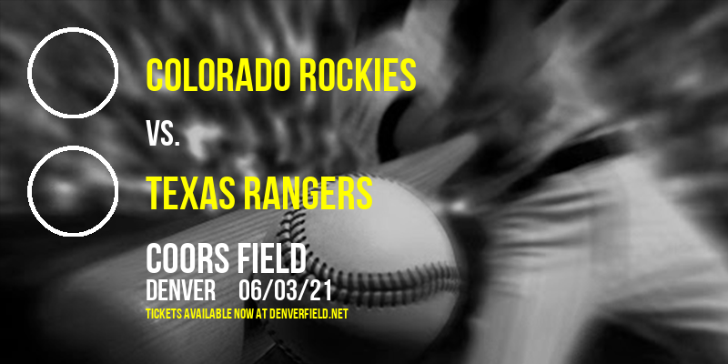 Colorado Rockies vs. Texas Rangers [CANCELLED] at Coors Field