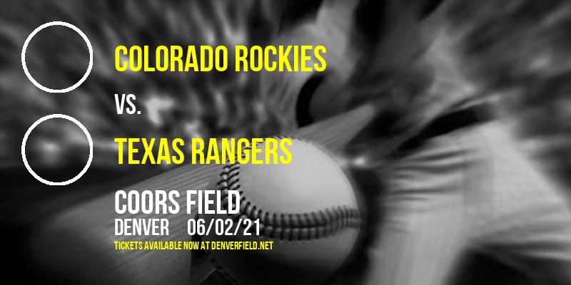 Colorado Rockies vs. Texas Rangers at Coors Field