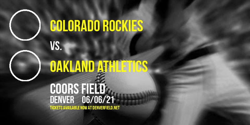 Colorado Rockies vs. Oakland Athletics at Coors Field